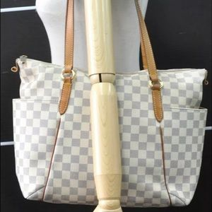 🔥Auth Louis Vuitton Damier Azur Totally MM Bag